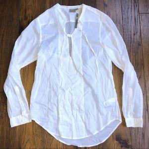 ASOS White Sheer long sleeve sheer shirt